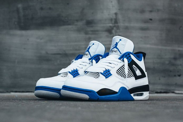 """04eb2a0aa03c Swap the blue in the Air Jordan 4 """"Motorsport"""" for red and you ve got the  classic """"Fire Red"""" colorway. Maybe that s why the look has such an OG feel."""