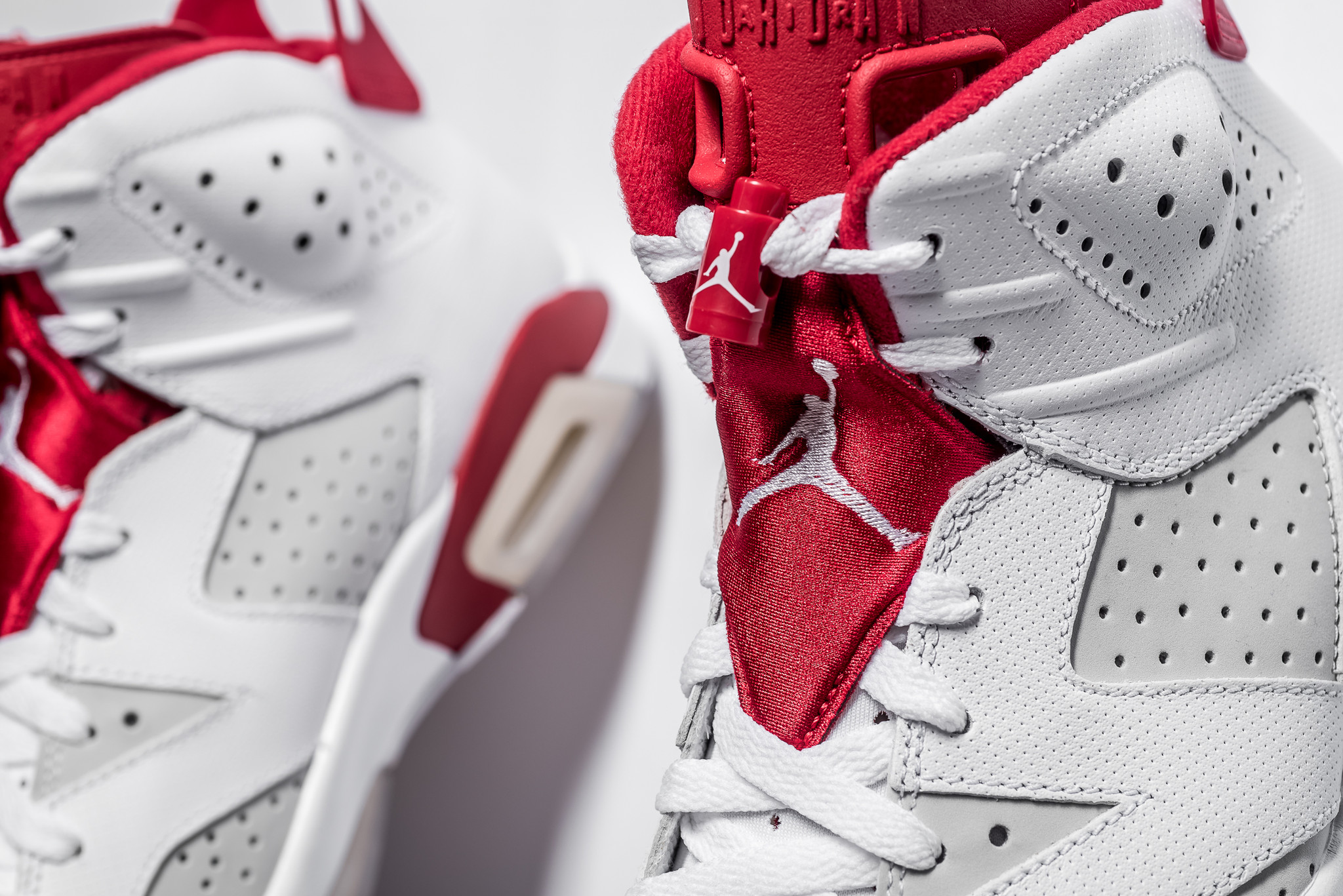2a9f9727296 Air Jordan 6 Retro Alternate VI AJ6 men sneakers NEW white gym red 384664- 113