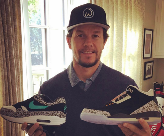 Mark Wahlberg Shows Off His atmos x Nike/Air Jordan Pickup