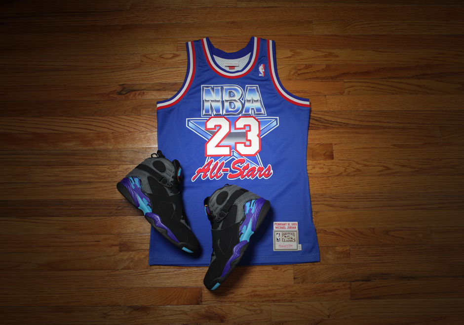 hot sale online 67093 61226 Mitchell   Ness commemorates Michael Jordan s stellar performance in the  1993 NBA All-Star Game with his authentic jersey. Cut exactly to the  specifications ...