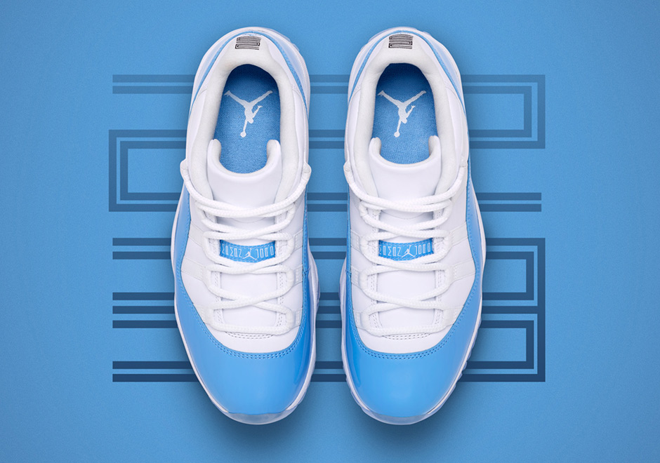 "9547d31a2f9 Jordan Brand has likely had Air Jordan 11 Low ""UNC"" in the works for quite  some time, but releasing it just after North Carolina won the NCAA hoops  title ..."