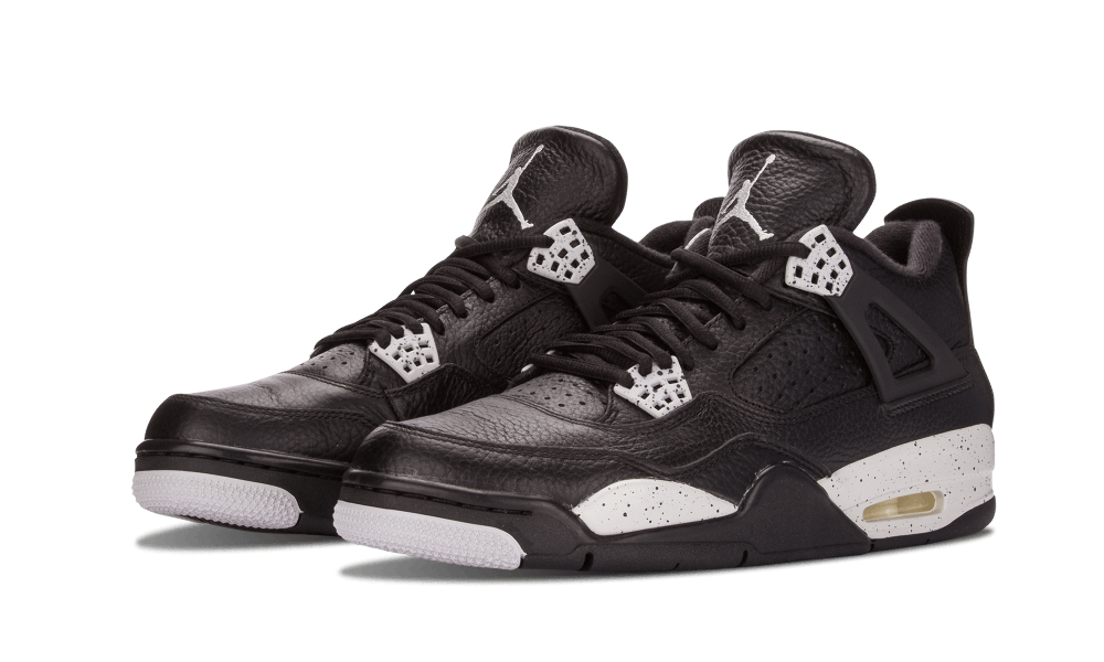 "designer fashion 002ef 90925 After a nearly 16 year wait, Air Jordan 4 ""Oreo"" returned in February 2015  to a warm reception. The tumbled black leather and grey cement speckle  combo ..."