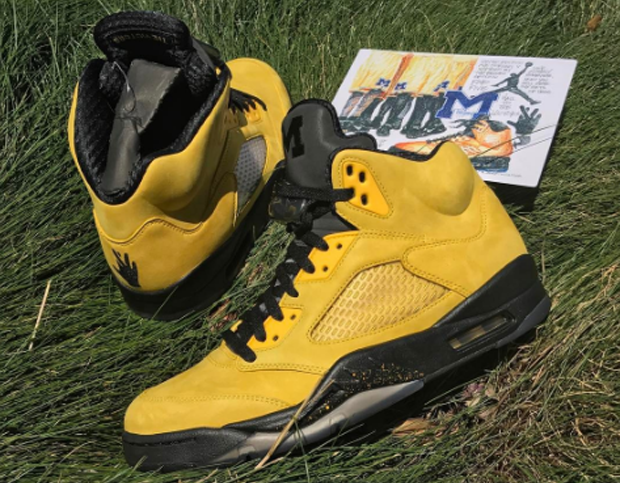 ae881caba79ef1 The Oregon Ducks set the college player exclusive precedent with green  suede Air Jordan 5s. Now