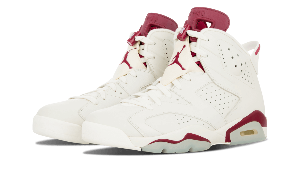 "Last released in mid-1991, Air Jordan 6 ""Maroon"" finally resurfaced at  retail in December 2015. The long-awaited retro followed Jordan Brands  ""remastered""."
