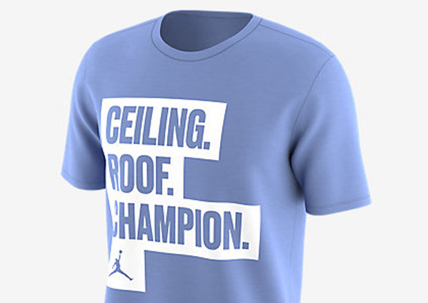 air jordan 6 unc shirt roof