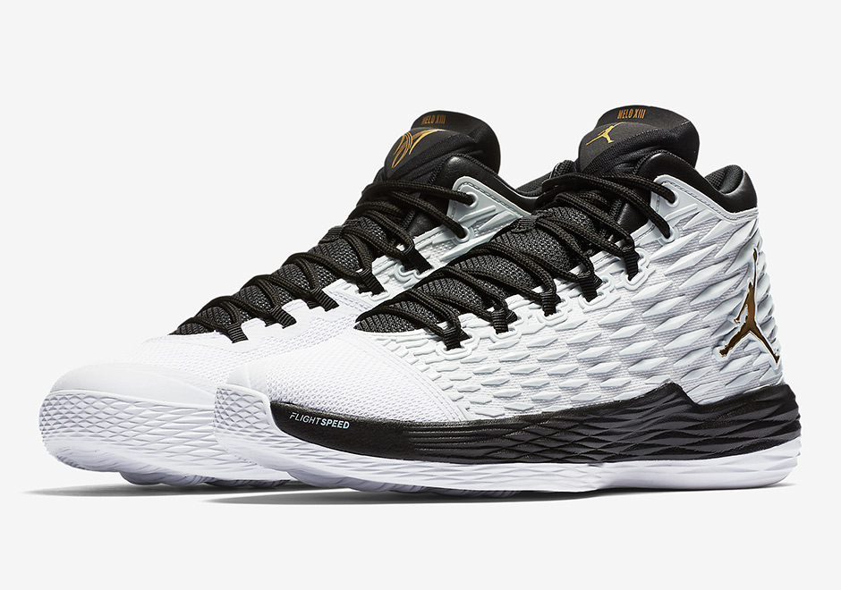 Can't really go wrong with white, black, and gold, which is what one of the latest Jordan Melo M13's is rolling with for spring 2...Read More