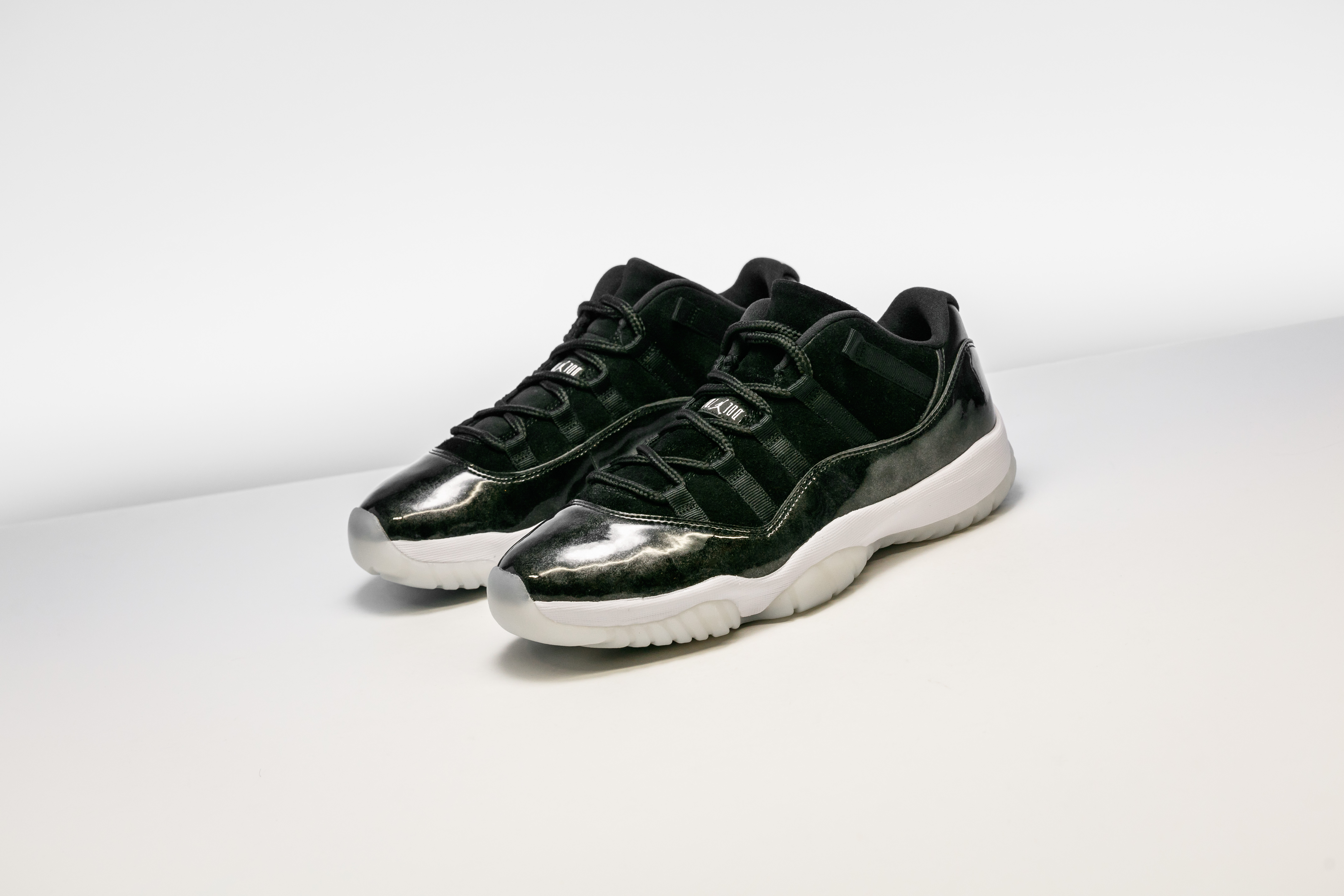 """cf57124ee54c00 Forget release day this Saturday. Stadium Goods is making today the  unofficial release day for Air Jordan 11 Low """"Barons."""" Shop your size now –  for retail!"""