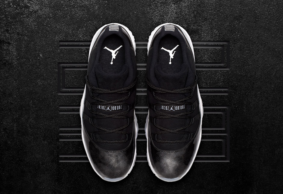 7fe02584122 In spring 1995, Michael Jordan introduced Air Jordan 11 to the world in  white and black. Fo spring 2017, it's back in lowtop form in black and  white.