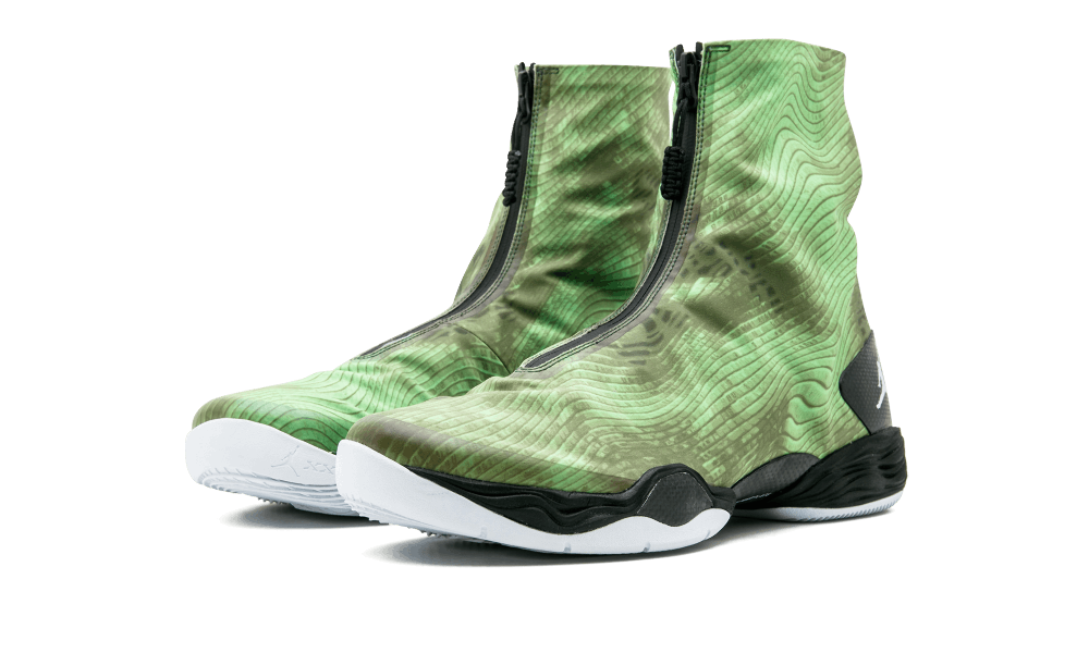 "95d511a003a8 Working with a night vision theme – and making maximum use of the shoe s  wide open space – Air Jordan 28 ""Electric Green"" dropped in February 2013  during ."
