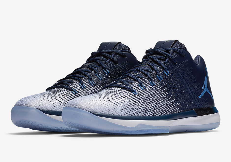 """5a6f984887d Didn't Jordan Brand just release an Air Jordan 31 Low """"UNC"""" recently? Yes,  the PE version, with logos and everything. This new Midnight Navy based  edition ..."""