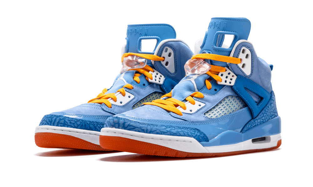 """official photos 0774c 71f56 Jordan Brand s """"Year of the Dragon"""" collection in 2012 included this bright  blue Jordan Spiz ike. Somewhat of a redux of the 2007 Air Jordan 3 """"Do the  Rig."""
