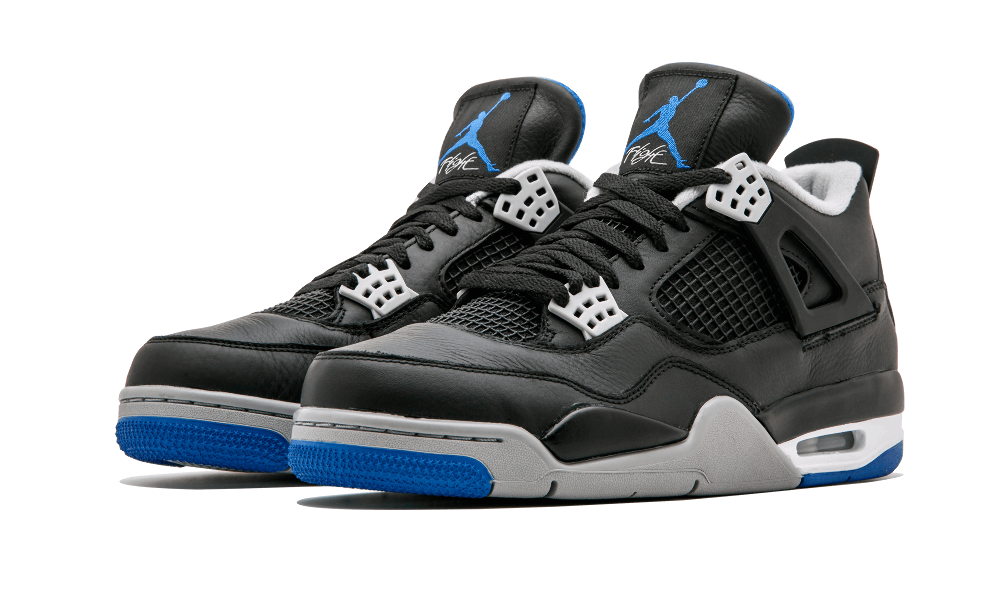 f0a49a6fdde2 Not only did Michael Jordan s love of motorsports inspire a white royal  blue Air Jordan 4